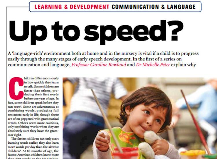 Nursery World Magazine CRMP article cropped