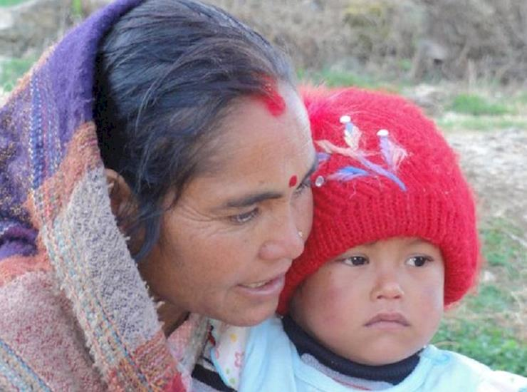 Allwood Nepali Mother and Child landscape
