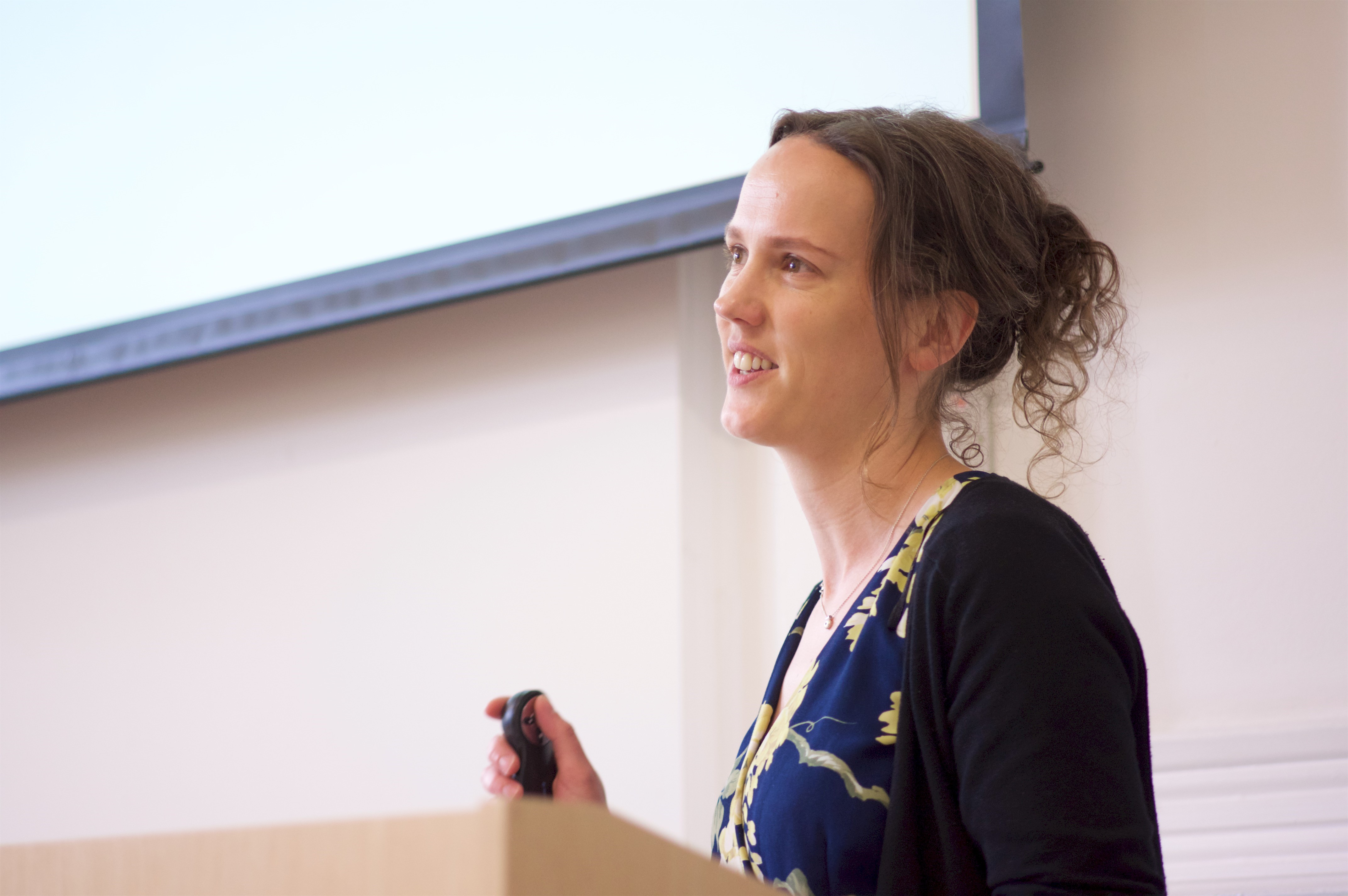 Katie presenting her talk at the LuCiD conference